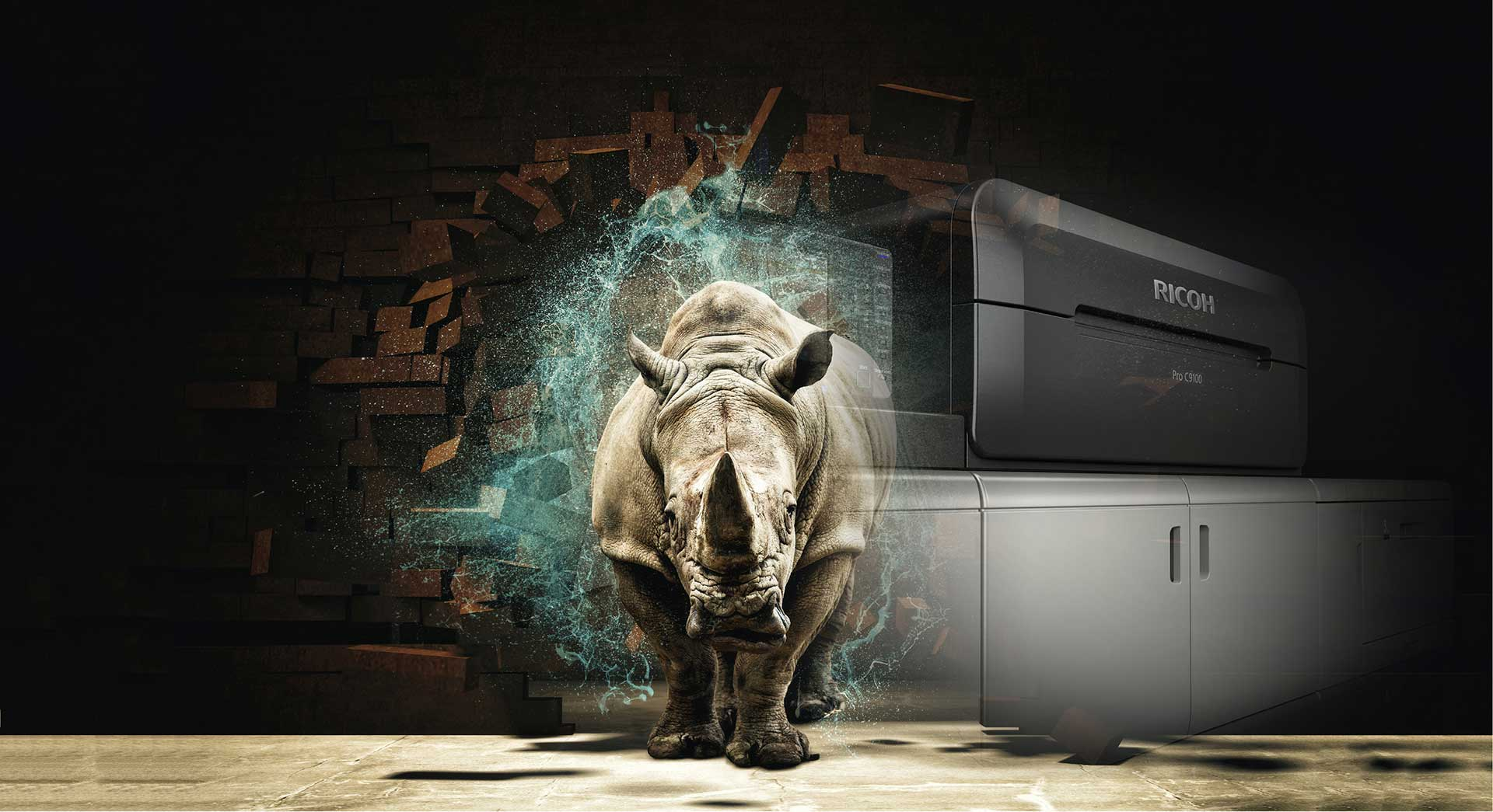The Rhino Has Arrived!! A new dawn in heavy production digital presses, Ricoh C9100 has installed in Corporate Press (HK) Limited